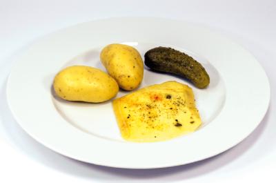 Menü Raclette mit Kartoffeln