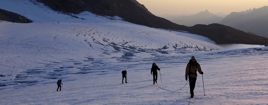 Hüfifirn – Sonnenaufgang auf dem Gletscher