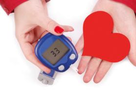 Blutzucker-Messgerät und Herz