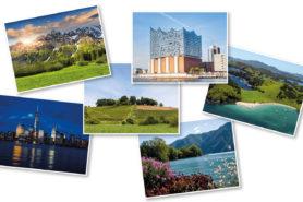 Diverse Postkarten von Ferienreisen