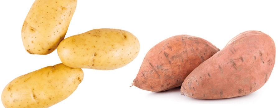 Kartoffeln und Süsskartoffeln