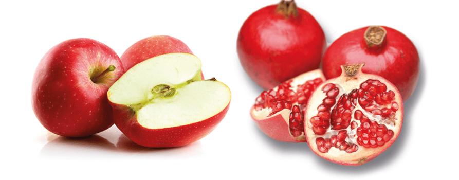 Äpfel und Granatäpfel