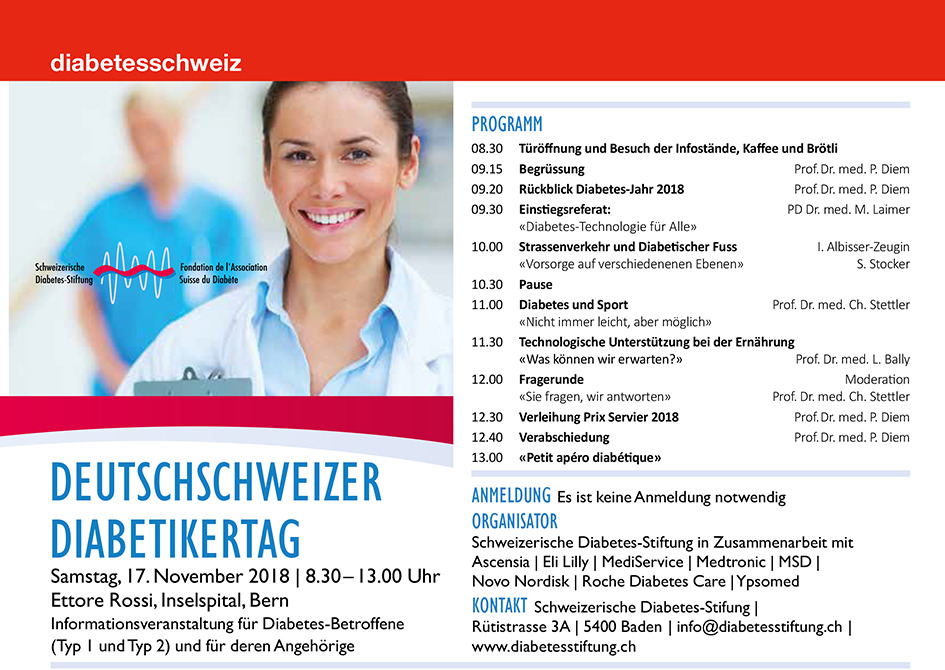 Ausschreibung Deutschschweizer Diabetikertag