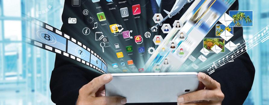 Tablet aus dem Apps springen