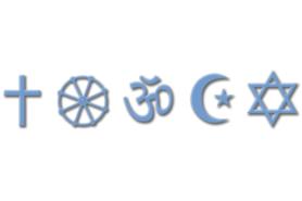 Zeichen der verschiedenen Religionen
