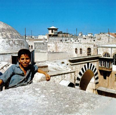 Auf den Dächern des Bazars von Aleppo