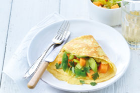 Rezept Gruyere Omelette Mit Currygemuese