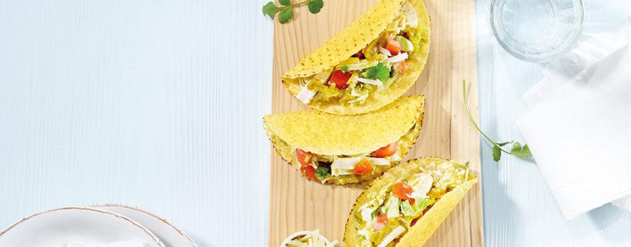 Rezept Taco Shells Mit Poulet Und Peperonisauce