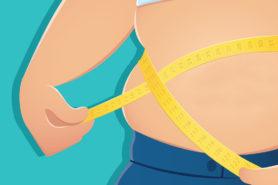 Illustration eines übergewichtigen Mannes