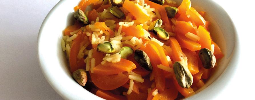 Rezept Peperoni mit Reis und Pistazien