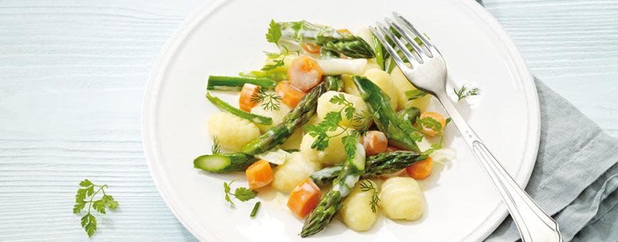 Rezept Spargeln Mit Kartoffel Gruyere AOP Gnocchi