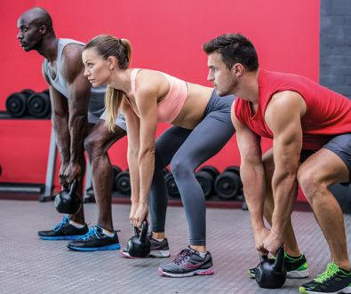 Sportler beim Gewichtheben